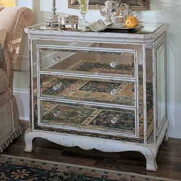 3-Drawer French Mirrored Chest | www.hayneedle.com