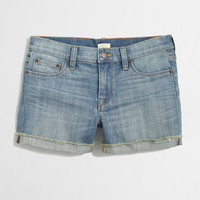 FACTORY CUTOFF DENIM SHORT