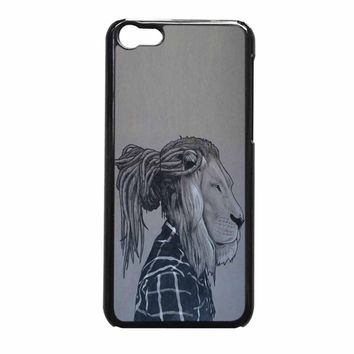 Rock Rasta Reggae Bob Marley Beads Dreadlock African Lion iPhone 5c Case