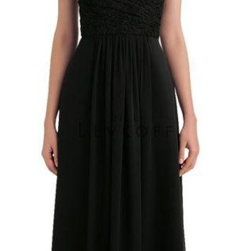 Bill Levkoff 1144 Strapless Chiffon Floor Length Bridesmaid Dress