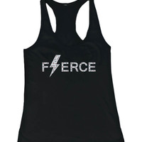 Women's Cute Leopard Design Tank Top - Fierce - Gym Clothes, Workout Tanks