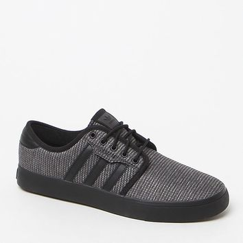 adidas Seeley Woven Texture Shoes - Mens Shoes - Carbon/Blk/Blk
