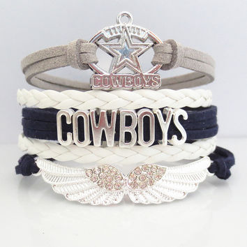Love Dallas Cowboys Football Magnetic Bracelet - 50% OFF Sale