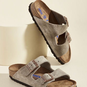 Strappy Camper Sandal in Tan Suede - Narrow