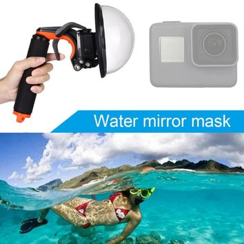 PULUZ PU227 Dome Port For Hero5 Underwater Depth Diving Case Waterproof Camera Housing Shell Mask Floating with Hand Grip Tripot