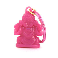 Hot Pink Buddha Keychain, Buddhist Keychain, Yoga Keychain, Yoga Gift, Neon Colors, Gifts Under 10