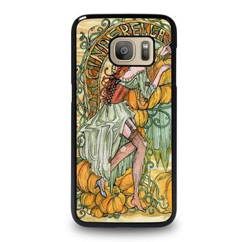 cinderella art disney samsung galaxy s7 case cover  number 1