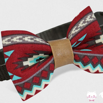 Hipster Cat Collar, Dog Collar Aztek