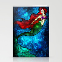 The Mermaids Song Stationery Cards by Mandie Manzano