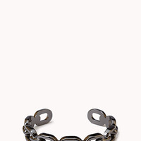 FOREVER 21 Chain-Link Cuff Gunmetal One