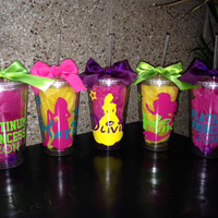 Personalized Disney Princess Monogrammed Tumblers