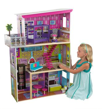 ONLINE ONLY!!!!!KidKraft Super Model Dollhouse with 11 accessories included