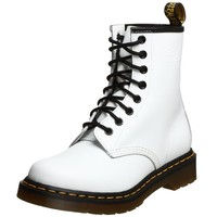 Dr. Martens 1460 Originals Eight-Eye Lace-Up Boot,White Smooth Leather,6 UK / 7 M US Mens / 8 M US Womens