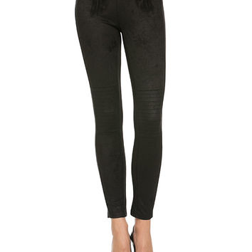 Suede Leggings - Black