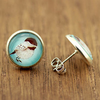 Fake Plugs : Bird Stud Earrings, Fake Plugs, Bohemian, Boho Chic Handmade in Canada by OAKWILDE on ETSY