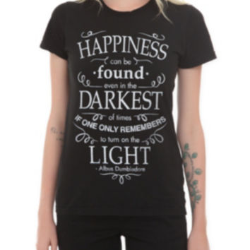Harry Potter Happiness Quote Girls T-Shirt