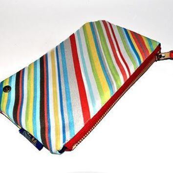 Quincy Clutch (Multi Stripe)