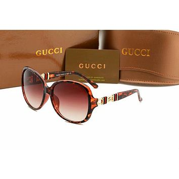 GUCCI Fashion Women Men Personality Sun Shades Eyeglasses Glasses Sunglasses I-AJIN-BCYJSH
