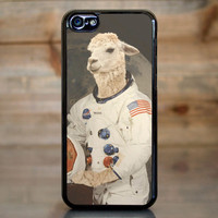 Funny Astronaut Llama in Space Suit Case for Apple iPhone 5c