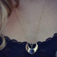 MOONBEAM WARRIOR Handcrafted Druzy Necklace