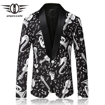 Men Clothing Shawl Collar Casual Suit Jacket Stage Costumes For Singers Prom Blazers