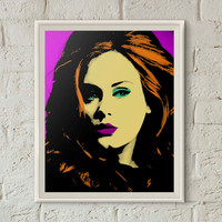 Adele Poster, Adele Hello, Andy Warhol Print, Pop Art Print,Adele Print,Printable Wall Art,Adele Art,Instant Download,Dorm Art,Printable Art