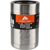 Ozark Trail- 12 ounce Vacuum Insulated Stainless Steel Can Cooler with Metal Gasket - Walmart.com