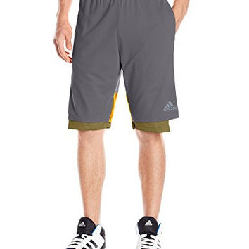 adidas Men's ABL Basketball League Defender 12-inch Shorts with Inner Tights