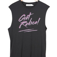 Needle and Shred | Store | GET RADICAL TANK - VINTAGE BLACK