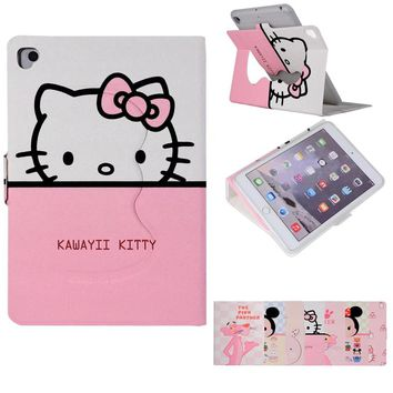 Cute Hello Kitty rabbit Stand Magnetic Smart Tablet Case Cover For Apple iPad mini 1 2 3 4 Case Cover Girl Kids Gift