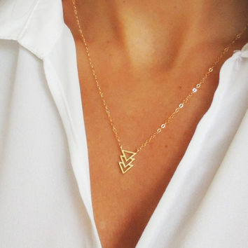 TRIO TRIANGLE NECKLACE - Christine Elizabeth Jewelry™
