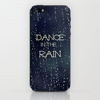 Dance in the Rain iPhone & iPod Skin by Caleb Troy