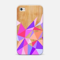 Wooden Pink Geo iPhone 4/4S case by House of Jennifer | Casetify