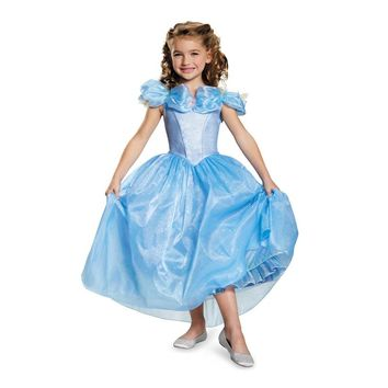 Light Blue Dresses Sleeveless Movie Costume Girls Prestige Cinderella Kids Princess Prom Dress Birthday Outfit Photo Prop
