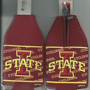 Iowa State Cyclones Koozie Set of 2 Team Logo Drink Bottle Koozies New