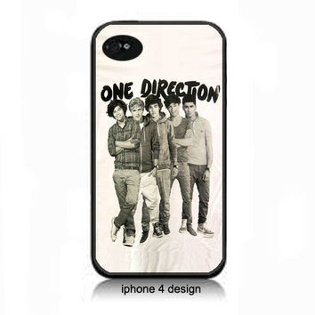 One Directoin Iphone 4 case, Iphone cell phone accessory cover, 4s iphone case