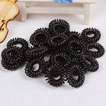 10Pcs Girls Elastic Rubber Hair Ties Band Rope Ponytail Holder Bracelets Scrunchie hot