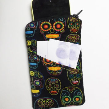 Sugar Skull Sunglass/Phone Case -B- day of dead, Día de Muertos, halloween, gifts, sister, mom, stocking stuffer