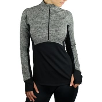 Reebok Women's Quarter Zip Running Shirt