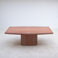 City Furniture | Red travertin Willy Rizzo dining table 1970s