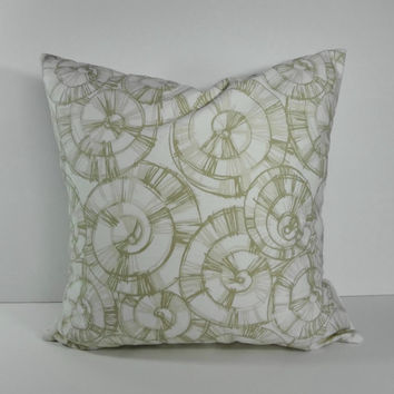 Decorative Pillow Cover, Throw Pillow Cover, Tan and White Pinwheel Cushion Cover, 20 x 20