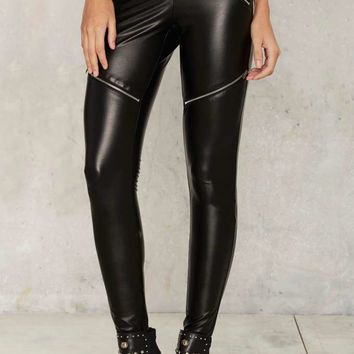 Nasty Gal Break the Cycle Moto Pants