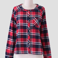 Back Country Plaid Button-Up In Red