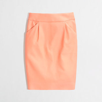Factory pencil skirt in double-serge cotton - pencil - FactoryWomen's Skirts - J.Crew Factory