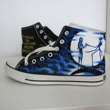 CREYON custom converse nightmare before christmas shoes hand painted on converse sneaker