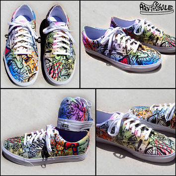 Battery Acid Hand Painted Vans Era Shoes