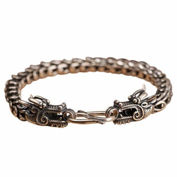 Dragon Warrior Hook Silver Luxury Bracelet