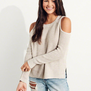 Girls Cutout Cold Shoulder Sweater | Girls Tops | HollisterCo.com