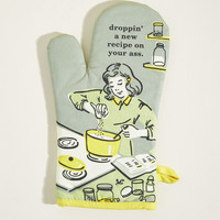 It's the Hot That Counts Cotton Oven Mitt in Sage