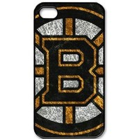 iPhone 4/4s Hard shell with Boston Bruins background design